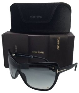 Tom Ford New TOM FORD Sunglasses EKATERINA TF 363 01B Shield 135 Black Frame w/ Gray Fade Lens