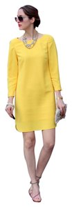 Banana Republic short dress Yellow Crepe Long Sleeve on Tradesy