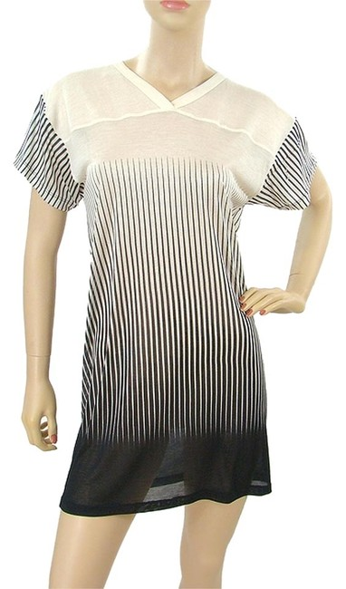 Jean-Paul Gaultier short dress Black and Ivory Striped Pinstripe Tunic Summer on Tradesy