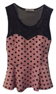 Arden B. Top Pink and black