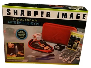 The Sharper Image Sharper Image 12-Piece Roadside Auto Emergency Kit