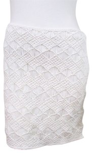 Ralph Lauren Black Label Hand Knit Skirt White