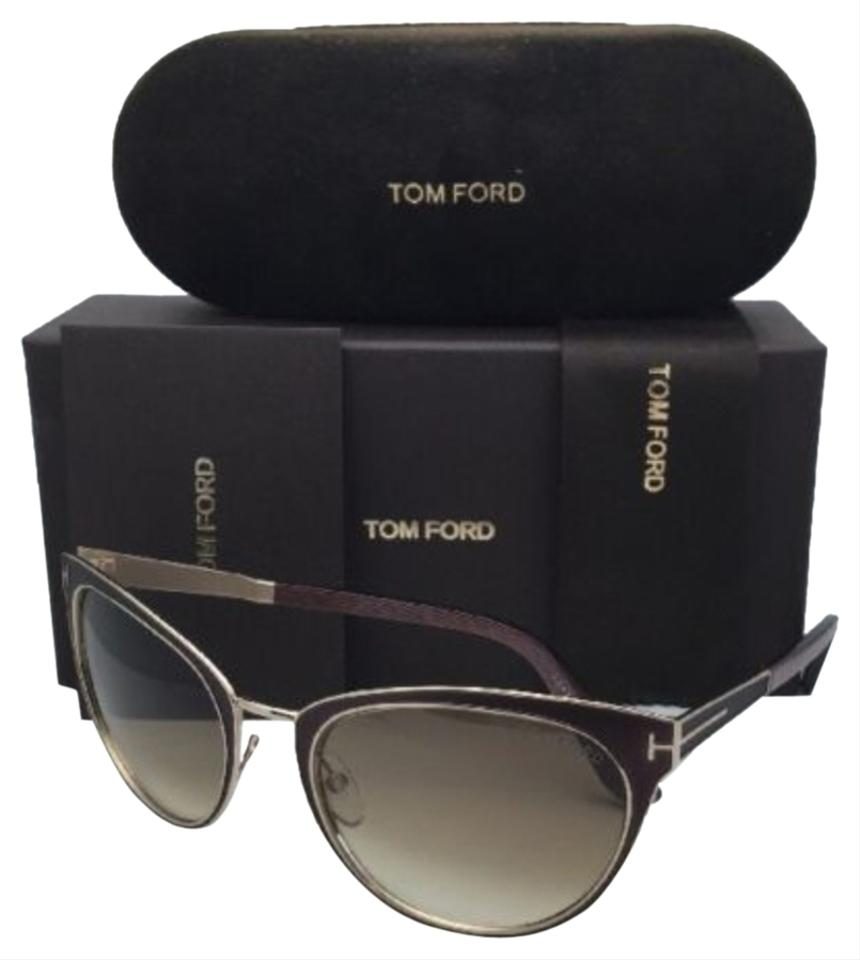 b318706355 Tom Ford Nina Tf 373 48f Brown On Gold Frame W  Brown Fade New 56-21 ...