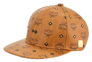 MCM MCM Gold Leather Studded Hat
