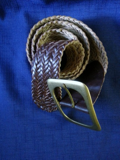 Unknown Genuine woven leather with brass buckle