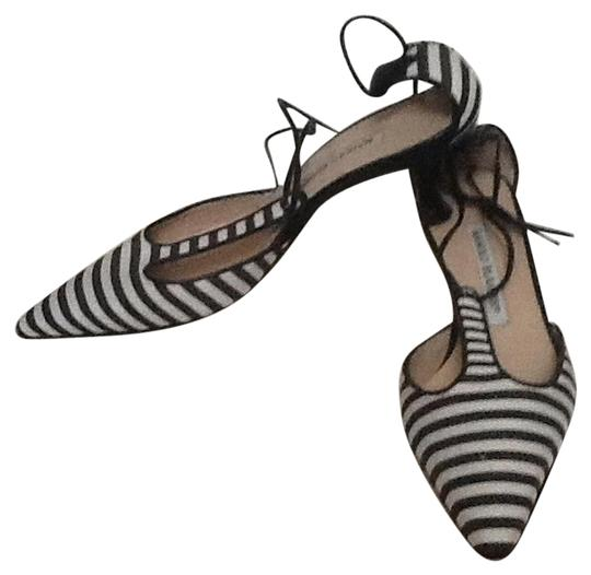 Manolo Blahnik Black and white Mules Image 0