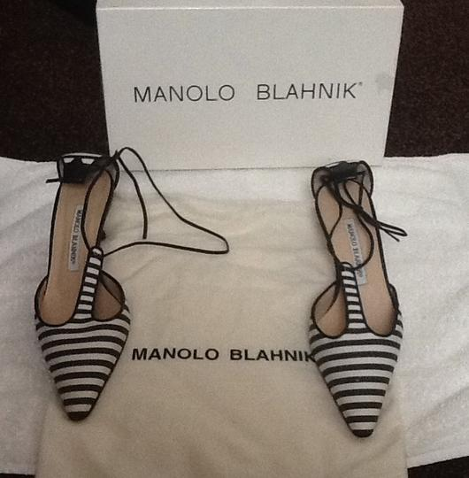 Manolo Blahnik Black and white Mules Image 2