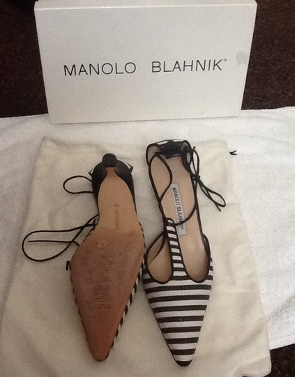 Manolo Blahnik Black and white Mules Image 3