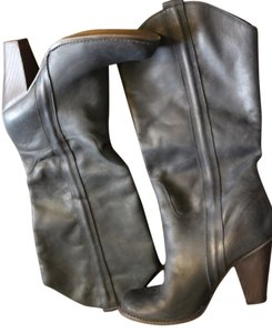 MIA Leather Boot Knee High Bootie black Boots