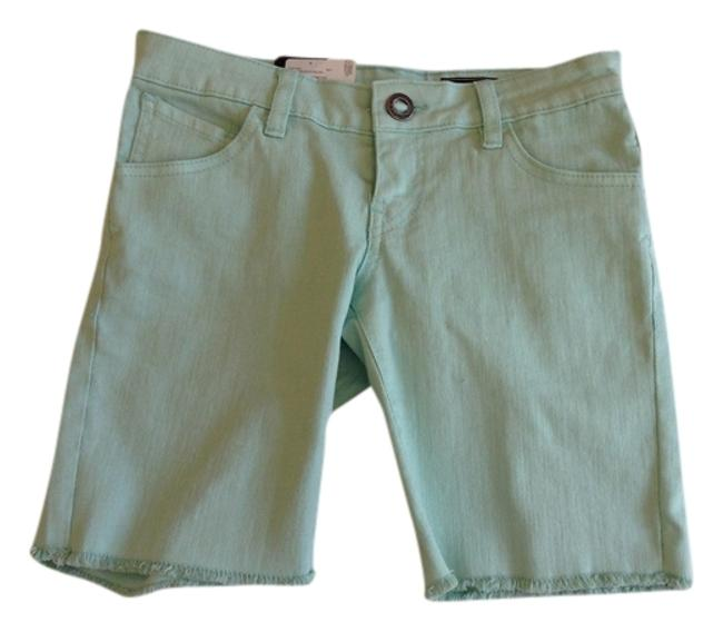 Volcom Denim Bermuda Shorts Sea foam Green
