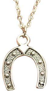 Other New Silver Horse shoe pendant necklace, best friends gift
