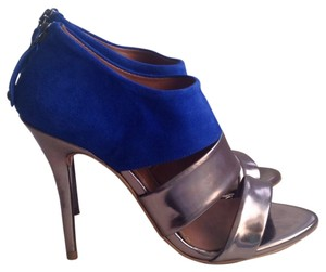 Zara Gun Metal/Electric Blue Pumps