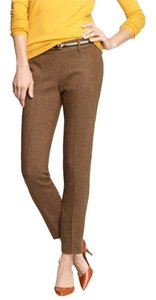 J.Crew Minnie Pant Minnie Pant Herringbone Tweed Brown Capris Brown Herringbone
