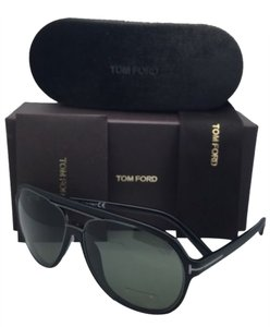 Tom Ford Polarized TOM FORD Sunglasses SERGIO TF 379 02R 60-14 Black Frame w/Green Lenses