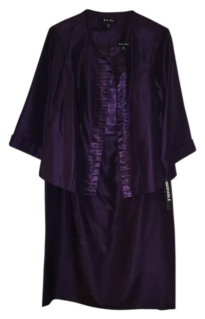 Item - Plum Style 19884 -2 Piece with Jacket Mid-length Formal Dress Size 14 (L)
