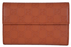 Gucci New Gucci Women's 346057 Brick Leather GG Guccissima French Wallet W/Coin Pocket