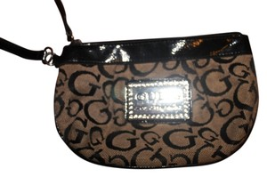 Guess Wristlet in Black and Beige