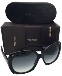 Tom Ford New TOM FORD Sunglasses GABRIELLA TF 362 01B 59-16 Black Frames w/ Grey Gradient Lenses
