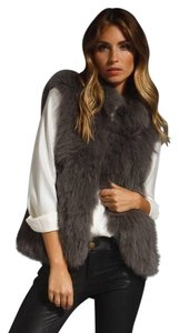 Theory Hannalee Fox Fur Knitted Coat Jacket Vest