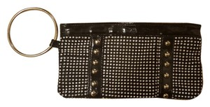 Francesca's Studded Sparkle Wristlet in black