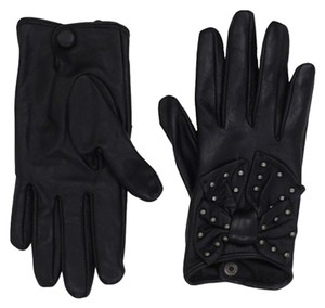 French Connection French Connection ~ Bow Black Stud Gloves ~ Med/Lrg