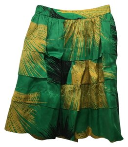 Sariah - Anthropologie Knee Length Skirt Green & Yellow