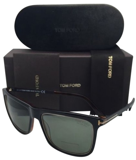 Brown Sunglasses Green Polarized Lens Size 57 Tom Ford Karlie TF 392 01R Black