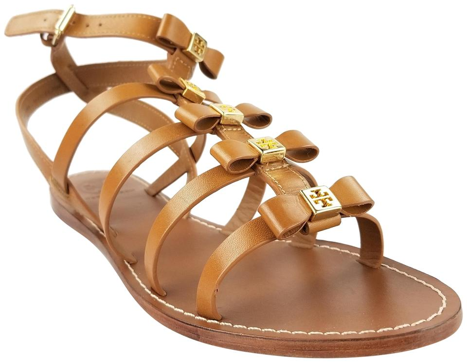 d74b845d7b39 Tory Burch Royal Tan Kira Leather Gladiator Sandals Size US 7.5 ...