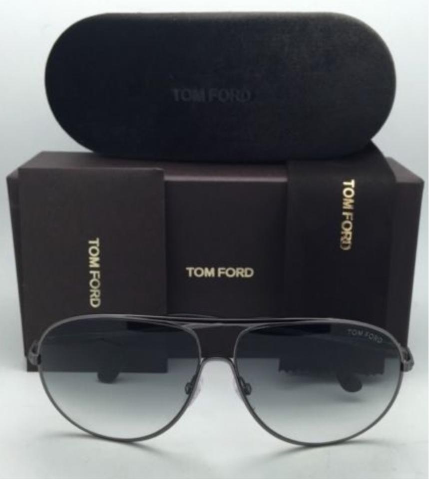 f8ebf87dc80f2 Tom Ford Cliff Tf 450 09b Gunmetal   Black Frames W Grey Gradient ...