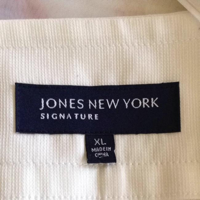 Jones New York Of Cap Sleeves Button Down Top White