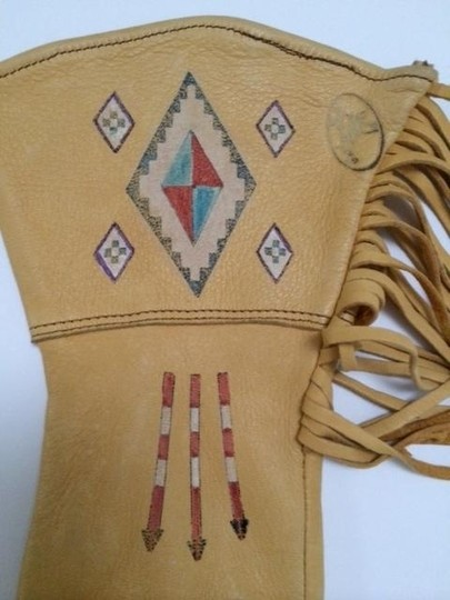 Ralph Lauren Vintage Ralph Lauren Polo Country Leather Western Fringed Gloves