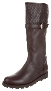 Gucci Round Toe Brown Boots