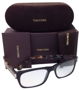 Tom Ford New TOM FORD Eyeglasses TF 5274 001 52-18 145 Black & Havana Frame w/ Clear Lenses