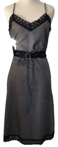 Black and white Maxi Dress by Emporio Armani Gray Office Career Chic