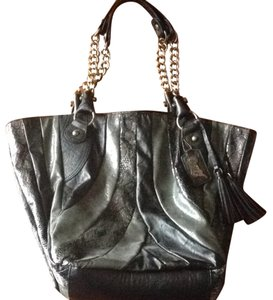 Carlos Santana Satchel in Black/grey Metallic Multi