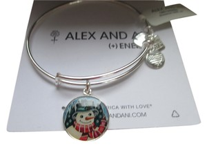 Alex and Ani Alex and Ani Snowman Bracelet in Shiny SIlver!! SOLD OUT!!