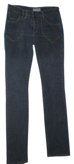 Hot Bottoms Rn 89685 (Marked 7 Straight Leg Jeans-Dark Rinse