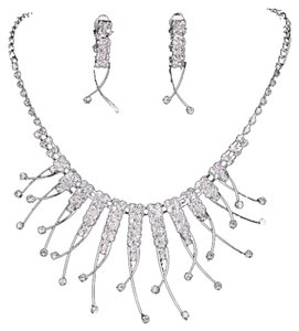 Other BNWT ~ Crystal and Rhinestone Necklace and Earrings Set