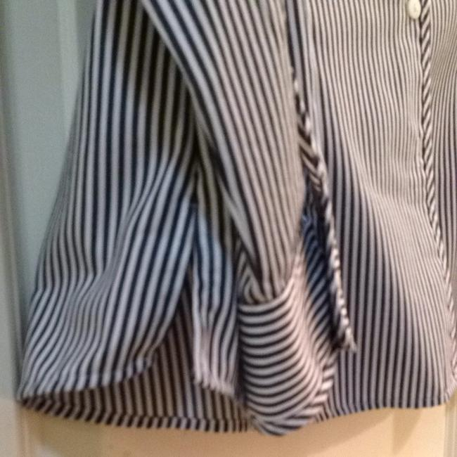 Foxcroft Top Black And White Stripe