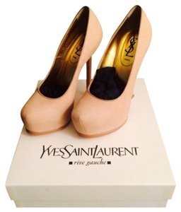 Saint Laurent Beigh Platforms