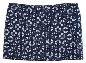 Juicy Couture Navy Circle Mod Multicolor Small Mini Skirt Blue