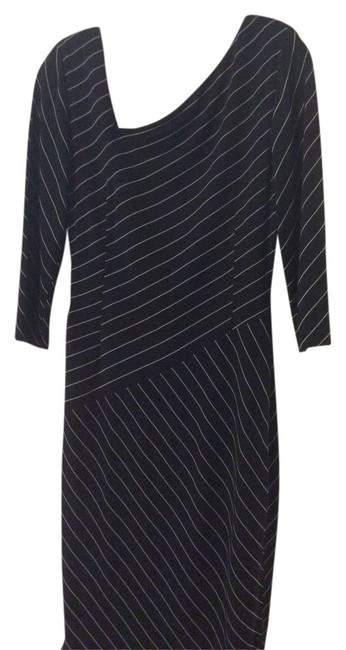 Preload https://item3.tradesy.com/images/david-meister-dress-black-with-white-pinstripes-1069262-0-0.jpg?width=400&height=650