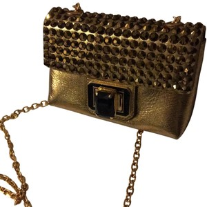 Judith Leiber Rockstud Metallic Shoulder Bag