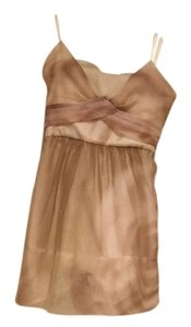 BCBGMAXAZRIA Silk Organza Strapless Dress