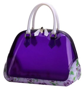 SABOHEMIAN Satchel in Plum/Flowers