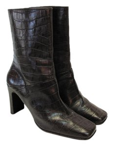 Amanda Smith Leather Reptle Design Size 8.50 M Very Good Condition Brown Boots