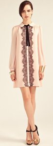 ALICE by Temperley Designer Lace Bow Crepe Vintage Shift British Import Rare Sold Out Mini Pirouette Dress