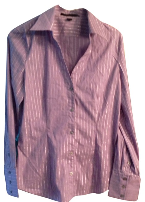 Express Smooth Button Down Shirt Lavender Striped