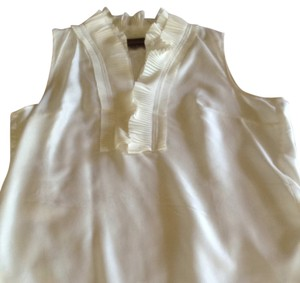 Kenar Sleeveless Top Cream