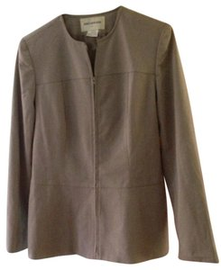 Jones New York Zipper Suit Jacket Button Down Shirt Sage Green